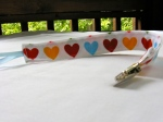 Bright Hearts Pacifier Clip $4.00