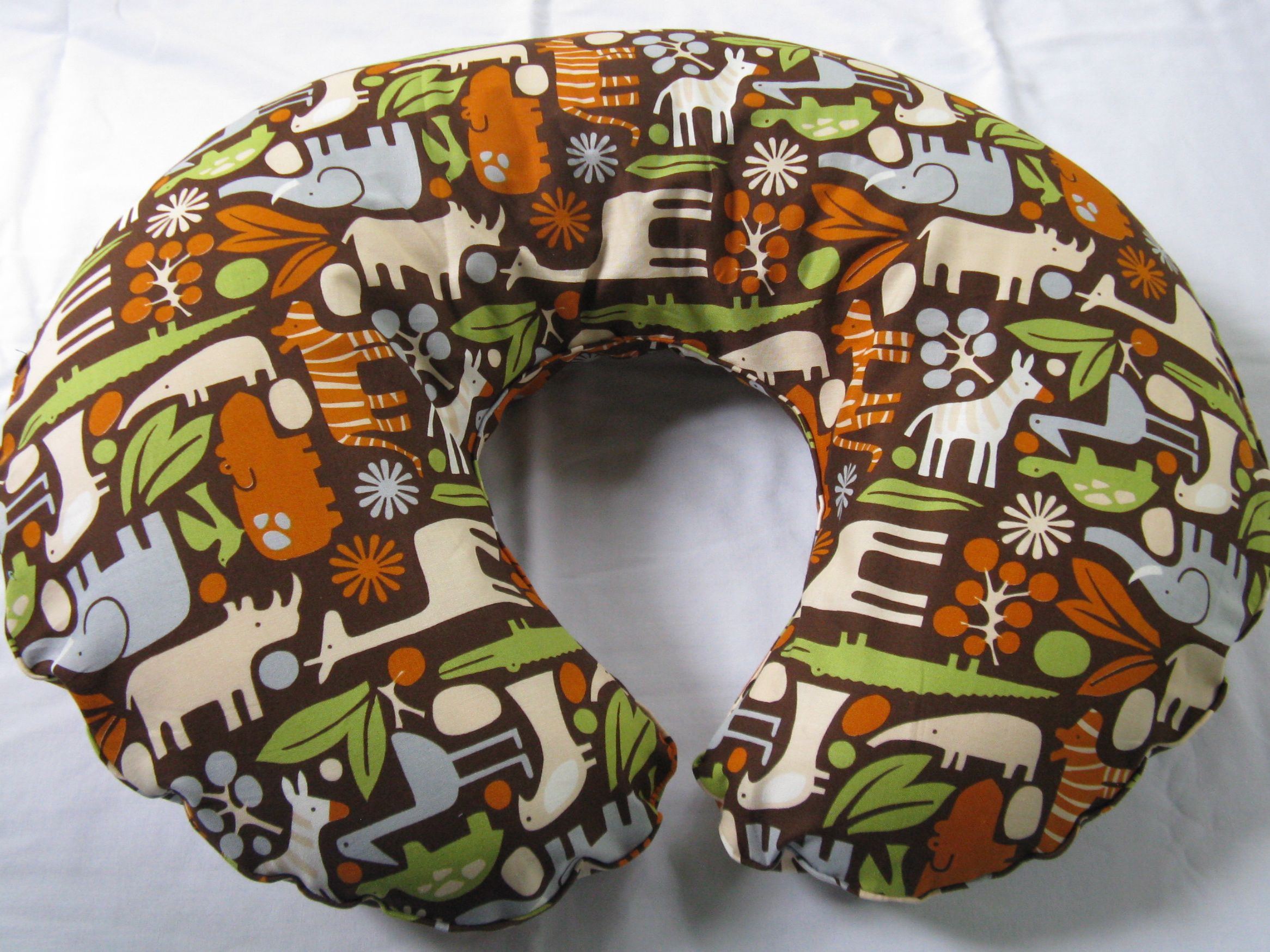 Zoo Animals Nursing Pillow Cover $20.00