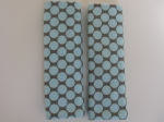 Blue Polka Dots Car Seat Straps $5.00