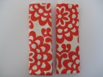 Red Lotus Flower Car Seat Straps $5.00