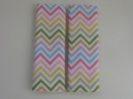 Pastel Chevron Car Seat Strap Covers $5.00